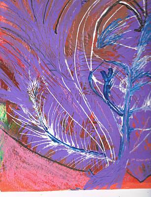 Feathery Fantasy Art Print by Anne-Elizabeth Whiteway