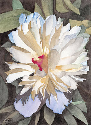 Ken Painting - Feathery Flower by Ken Powers