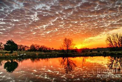February 2015 East Texas Morning Sunrise Art Print