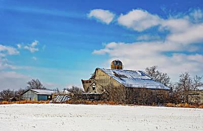 Photograph - February Barn 2 by Steve Harrington