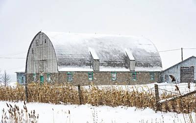 Photograph - February Barn by Steve Harrington