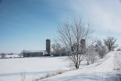 Photograph - February Farmland by David Bearden