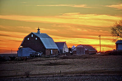 Photograph - February Farmset by Bonfire Photography