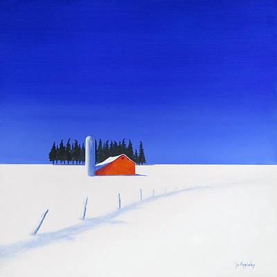 Painting - February Fields by Jo Appleby