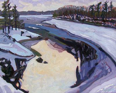 Snow Storm Painting - February Ice by Phil Chadwick