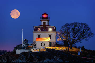 Photograph - February Moon by Michael Blanchette