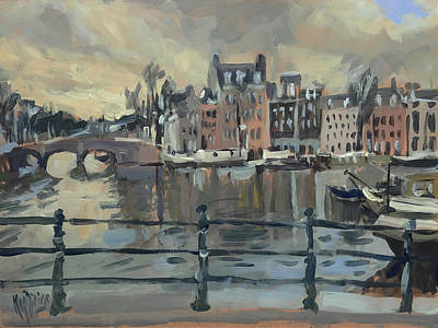 February Morning Along The Amstel Art Print