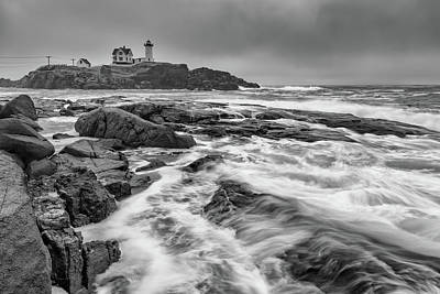 Photograph - February Morning At Cape Neddick by Rick Berk