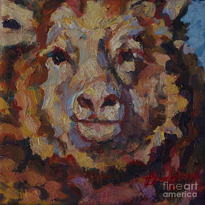 Year Of The Sheep Painting - February by Patricia A Griffin