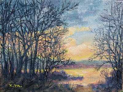 Painting - February Sky by Kathleen McDermott