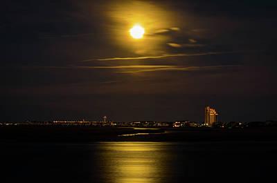 Photograph - February Snow Moon by Gerald Monaco