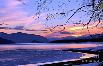 February Sunset 2 Art Print