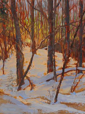 Painting - February Twilight by Ken Fiery