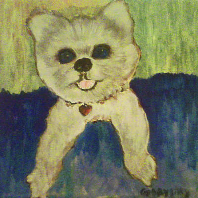 Painting - Fed Ex Doggie by Gabby Tary