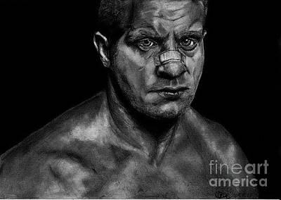 Mixed Martial Arts Drawing - Feder Emelianenko by Zbignev Leonovic