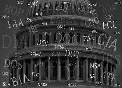 Washington D.c Digital Art - Federal Agencies Of The United States by Daniel Hagerman