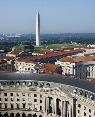 Washington Monument Wall Art - Photograph - Federal Buildings - The Washington Monument And The National Mall - Washington Dc by Brendan Reals
