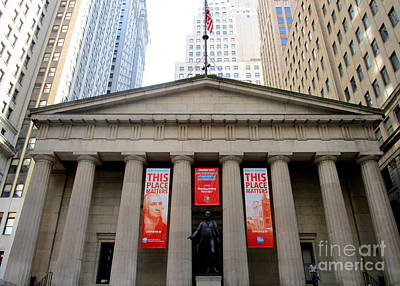 Photograph - Federal Hall 2 by Randall Weidner