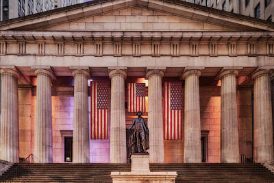 New York City Photograph - Federal Hall National Memorial Nyse by Susan Candelario