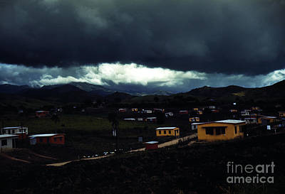 Stormy Weather Painting - Federal Housing Yauco Puerto Rico by MotionAge Designs