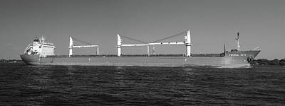 Photograph - Federal Seto Panorama Bw by Mary Bedy