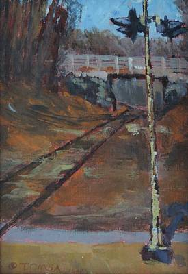 Painting - Federal Street Overpass - Art By Bill Tomsa by Bill Tomsa