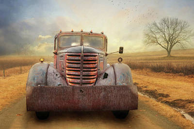 Antique Tow-truck Photograph - Federal Tow Truck by Lori Deiter