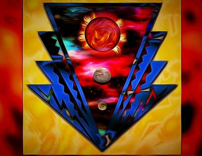 Digital Art - Federated Badge Of Planets by Mario Carini