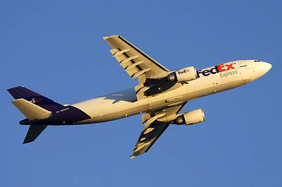 Fedex Airbus A300f4 605r N692fe Phoenix Sky Harbor December 23 2010 Print by Brian Lockett
