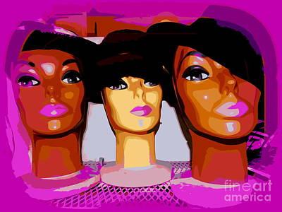 Digital Art - Fedora Femmes by Ed Weidman