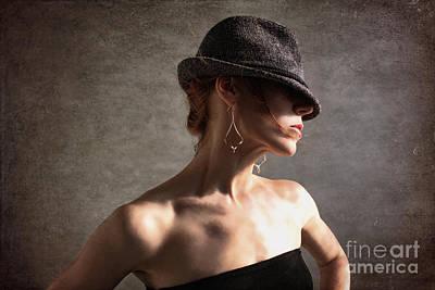 Attitude Mixed Media - Fedora Vogue by Spokenin RED