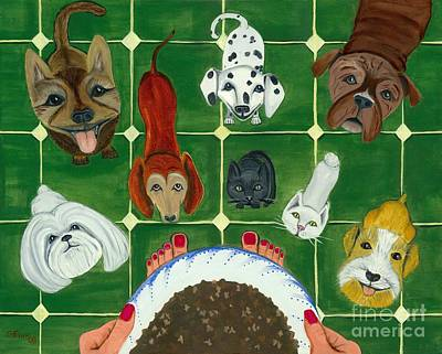 Feed Me Art Print by Gail Finn