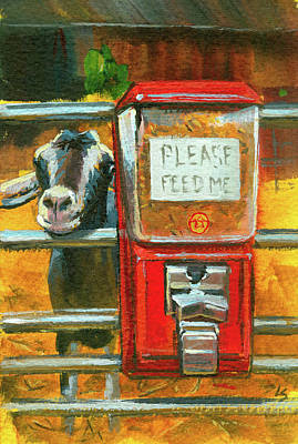Art Print featuring the painting Feed Me by Lesley Spanos