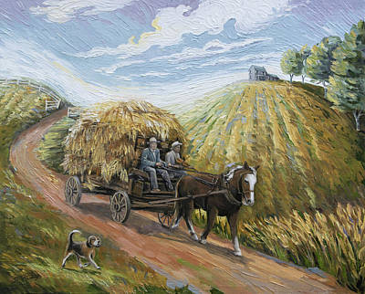 Painting - Feed My Horse On Corn And Hay by Paula Blasius McHugh