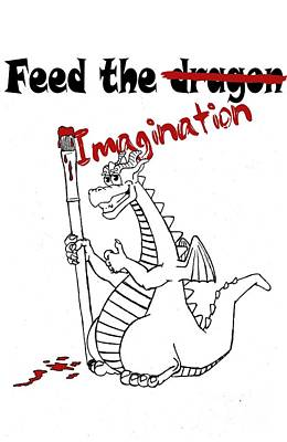 Drawing - Feed The Imagination by Christian Conner