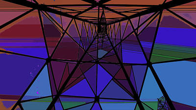 Feed To A Power Line Of Color Art Print by Kenneth James