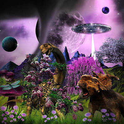 Digital Art - Feeding A New Planet by Artful Oasis