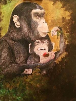 Jenna Thomas Wall Art - Painting - Feeding Mom by Jennifer Thomas