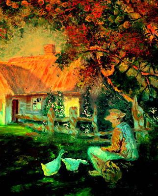 Painting - Feeding The Ducks,1985 by Henryk Gorecki
