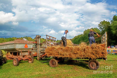 Photograph - Feeding The Threshing Machine by David Arment