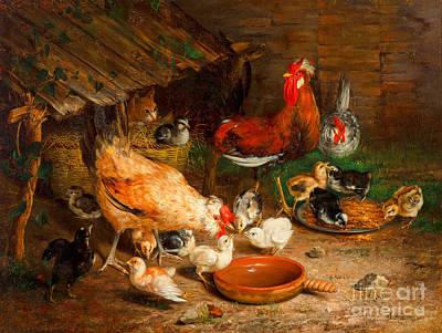 Painting - Feeding Time by Ignace Spiridon
