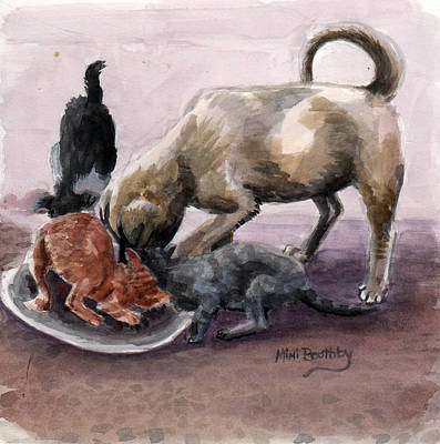Painting - Feeding Time by Mimi Boothby
