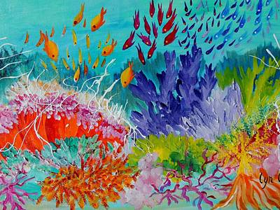 Painting - Feeding Time On The Reef #2 by Lyn Olsen
