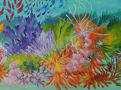 Painting - Feeding Time On The Reef #3 by Lyn Olsen