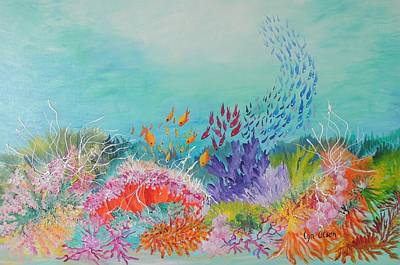 Painting - Feeding Time On The Reef by Lyn Olsen