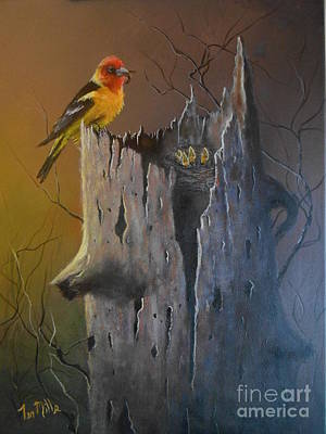 Wall Art - Painting - Feeding Time by Terry Mills