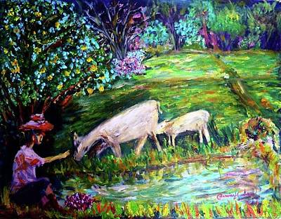 Painting - Feeding by Wanvisa Klawklean