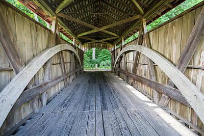 Feedwire Covered Bridge - Carillon Park Dayton Ohio Art Print