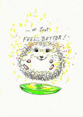 Drawing - Feel Better by Denise Fulmer