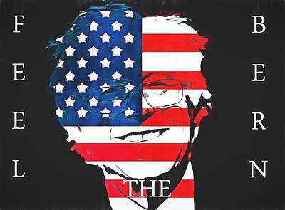 Civil Liberties Digital Art - Feel The Bern by Dan Sproul